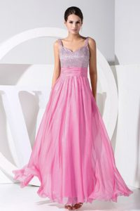 Beading Decorated Ankle-length Straps Pageant Girl Dress on Wholesale Price