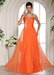 Orange Red Appliques Stylish Sweetheart Natural Beauty 2013 Pageant Dress