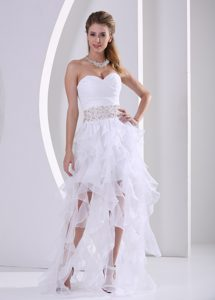 Stylish Ruffled in Summer Pageant Dress with with Beading and Ruching on Sale
