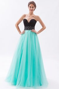New Black and Turquoise A-line Sweetheart Pageant Dresses for Miss America