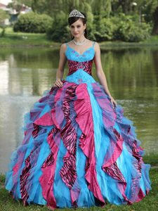 Memorable Multi-color Beaded Organza Pageant Dresses for Miss America