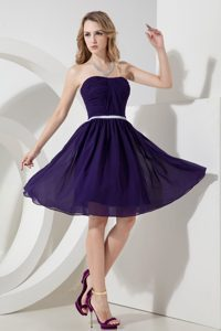 Romantic Purple A-line Knee-length Natural Beauty Pageants Dress for Fall