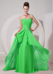 Empire Miss Mississippi Pageant Dresses with Sweetheart in Spring Green