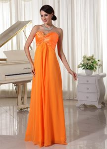 Beautiful Orange Beaded Pageant Dresses for Girls in Satin and Chiffon