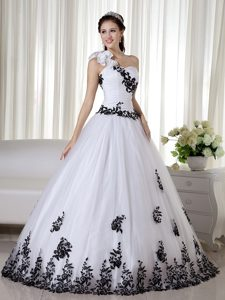 Must-have One Shoulder Pageant Dresses in taffeta and Organza in White