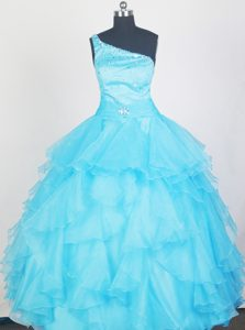 Memorable Aqua Blue Little Girl Pageant Dresses with Ruffles and Beading
