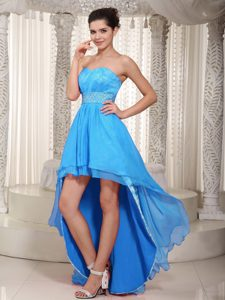 Special Sweetheart High-low Miss Mississippi Pageant Dress in Baby Blue