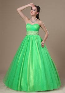 Beaded Sweetheart Popular Miss Universe Pageant Dress in Spring Green