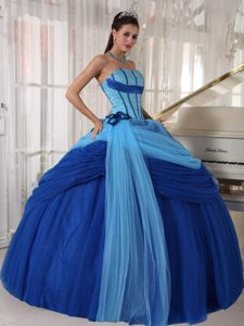 Unique Strapless Floor-length Tulle Miss USA Pageant Dresses with Beading