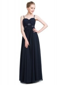 Stunning Black Sleeveless Ruching Floor Length Pageant Gowns