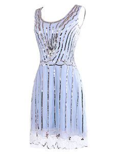 Lavender Scoop Side Zipper Sequins Pageant Dress for Teens Sleeveless