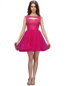 Sleeveless Beading Zipper Pageant Dress for Teens