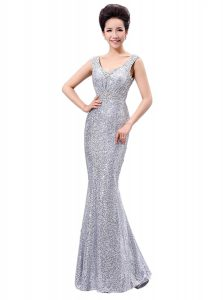 Superior Sequined Sleeveless Floor Length Pageant Dress for Teens and Sequins