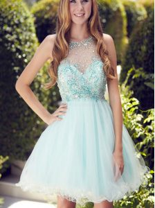 Scoop Sleeveless Beading and Ruching Zipper Winning Pageant Gowns