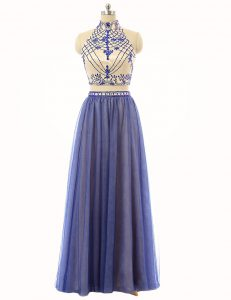Sleeveless Beading Zipper Winning Pageant Gowns