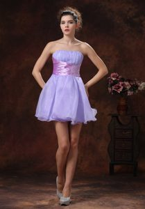 Charming Lace-up Short Lilac Natural Beauty Pageants Dress with Beading