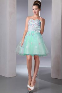 Colorful A-line Sweetheart Mini-length Pageant Dresses with Appliques on Sale