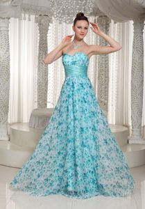 2013 Colorful Interview Pageants Suits with Sweetheart in Printing on Sale