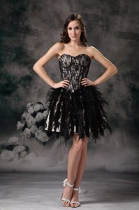 Black Ball Gown Sweetheart Mini-length Stunning Youth Pageant Dresses