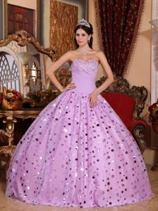 Good Quality Tulle Sweetheart Natural Beauty Pageants Dress in Lavender