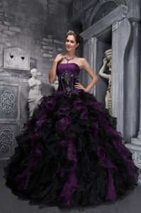 Exclusive Taffeta and Organza Pageant Dresses with Appliques and Ruffles