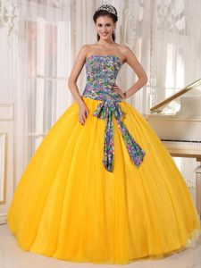 Strapless Tulle Pageant Dresses for Miss USA with Sequins on Promotion