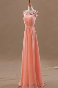 Bateau Sleeveless Chiffon Glitz Pageant Dress Beading Zipper