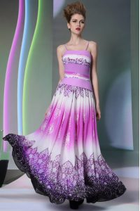 Classical Floor Length Multi-color Pageant Dress for Teens Chiffon Sleeveless Ruching