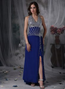 Peacock Blue Column Halter Inexpensive Youth Pageant Dresses in Chiffon