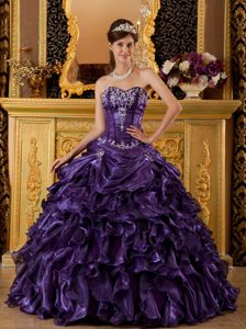 Cheap Ball Gown Sweetheart Pageant Dresses for Miss America in Purple