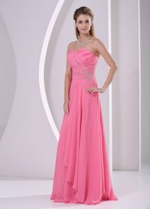 Watermelon Zipper-up Ruched Impressive Spring Dresses for Pageants in NJ
