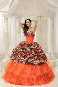 Custom Made Beaded Strapless Muti-Color Pageant Dresses in Organza