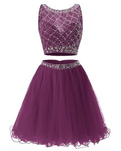 Sweetheart Sleeveless Side Zipper Glitz Pageant Dress Purple Tulle