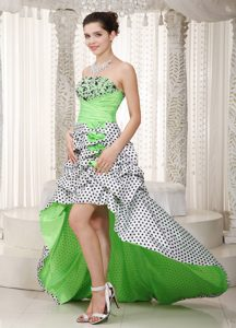 Dazzling A-line Strapless High-low Pageant Dresses in Multi-color in Taffeta