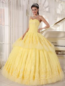 Exclusive Yellow Ball Gown Sweetheart Pageant Dresses for Miss America