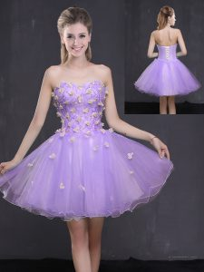 On Sale Organza Sleeveless Mini Length Pageant Dress for Teens and Appliques